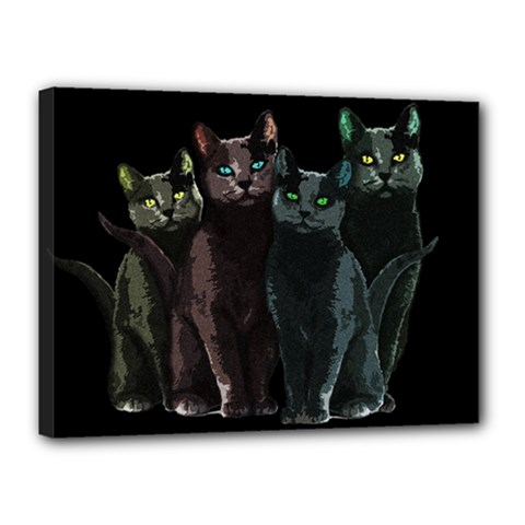 Cats Canvas 16  X 12  by Valentinaart