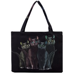 Cats Mini Tote Bag by Valentinaart