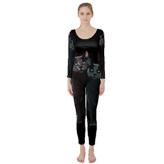 Cats Long Sleeve Catsuit by Valentinaart