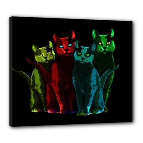 Cats Canvas 24  X 20  by Valentinaart