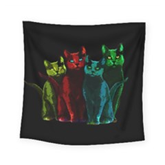 Cats Square Tapestry (small) by Valentinaart