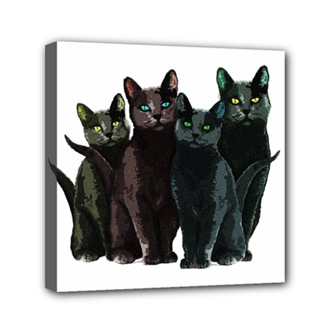 Cats Mini Canvas 6  X 6  by Valentinaart