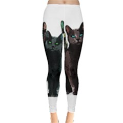 Cats Leggings  by Valentinaart