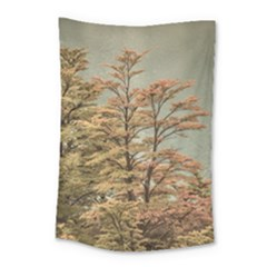 Landscape Scene Colored Trees At Glacier Lake  Patagonia Argentina Small Tapestry by dflcprints