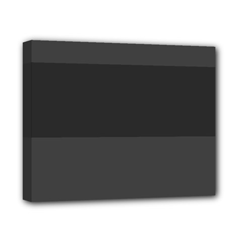 Gray And Black Thick Stripes Canvas 10  X 8  by theunrulyartist