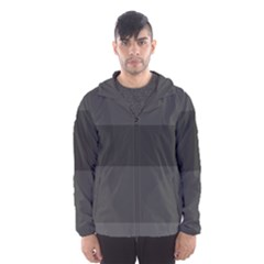 Gray And Black Thick Stripes Hooded Wind Breaker (men) by theunrulyartist