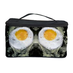 Skull With Fried Egg Eyes Cosmetic Storage Case by dflcprints