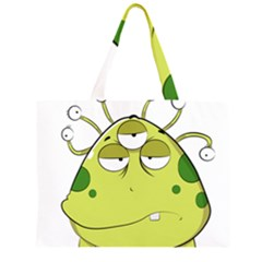 The Most Ugly Alien Ever Zipper Large Tote Bag by Catifornia