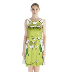 The Most Ugly Alien Ever Sleeveless Waist Tie Chiffon Dress