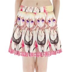 Blonde Hair Bikini Furry Girl Pleated Mini Skirt