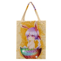 Easter Bunny Furry Classic Tote Bag by Catifornia