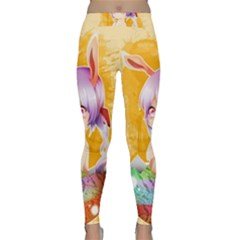 Easter Bunny Furry Classic Yoga Leggings by Catifornia