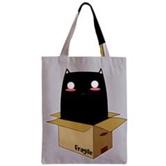 Black Cat In A Box Classic Tote Bag by Catifornia