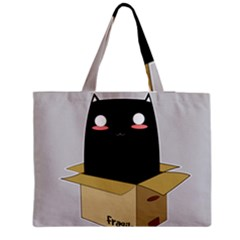 Black Cat In A Box Medium Tote Bag by Catifornia