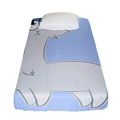 Grumpy Persian Cat Llama Fitted Sheet (single Size) by Catifornia