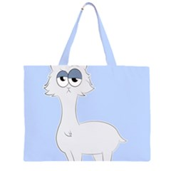Grumpy Persian Cat Llama Zipper Large Tote Bag by Catifornia