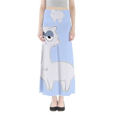 Grumpy Persian Cat Llama Maxi Skirts by Catifornia