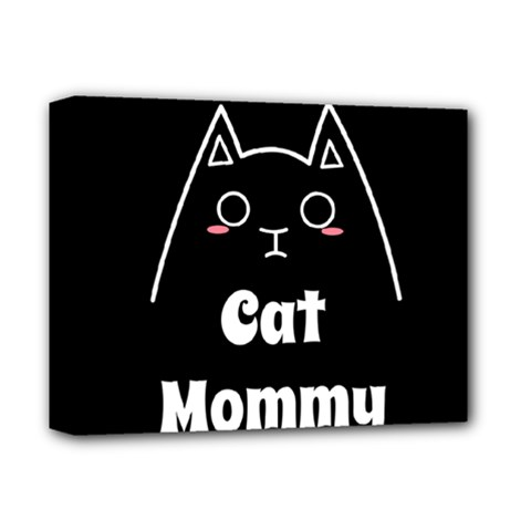 Love My Cat Mommy Deluxe Canvas 14  X 11  by Catifornia