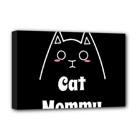 Love My Cat Mommy Deluxe Canvas 18  X 12   by Catifornia
