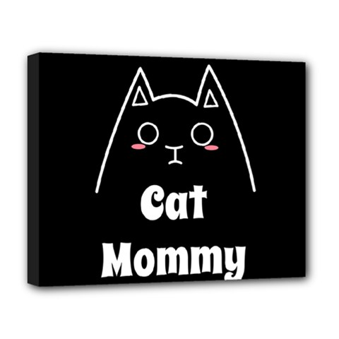 Love My Cat Mommy Deluxe Canvas 20  X 16   by Catifornia