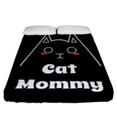 Love My Cat Mommy Fitted Sheet (california King Size) by Catifornia