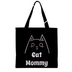 Love My Cat Mommy Zipper Grocery Tote Bag by Catifornia