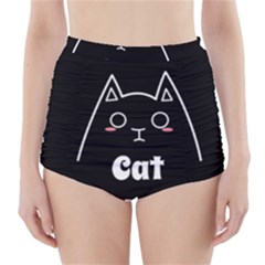 Love My Cat Mommy High Waisted Bikini Bottoms by Catifornia