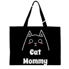 Love My Cat Mommy Zipper Large Tote Bag by Catifornia