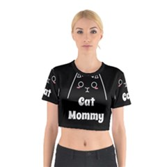 Love My Cat Mommy Cotton Crop Top by Catifornia