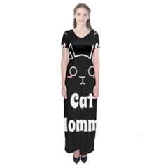 Love My Cat Mommy Short Sleeve Maxi Dress by Catifornia