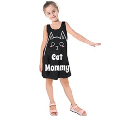 Love My Cat Mommy Kids  Sleeveless Dress by Catifornia