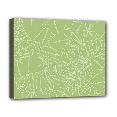 Blender Greenery Leaf Green Deluxe Canvas 20  X 16   by Mariart