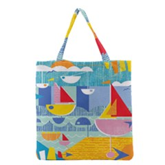 Boats Ship Sea Beach Grocery Tote Bag by Mariart