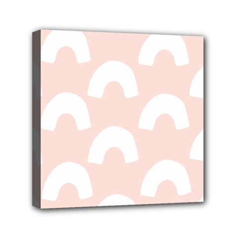 Donut Rainbows Beans Pink Mini Canvas 6  X 6  by Mariart