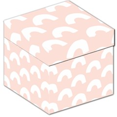 Donut Rainbows Beans Pink Storage Stool 12   by Mariart