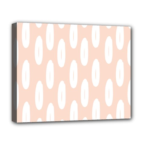 Donut Rainbows Beans White Pink Food Deluxe Canvas 20  X 16   by Mariart