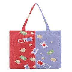 Glasses Red Blue Green Cloud Line Cart Medium Tote Bag by Mariart