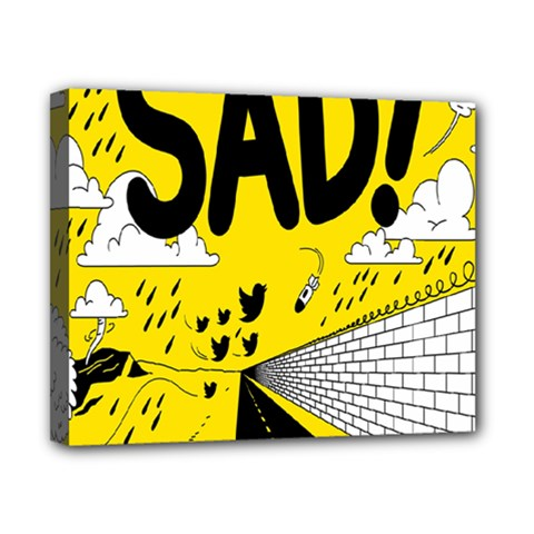 Have Meant  Tech Science Future Sad Yellow Street Canvas 10  X 8  by Mariart