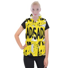Have Meant  Tech Science Future Sad Yellow Street Women s Button Up Puffer Vest by Mariart