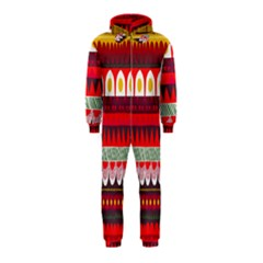 Fabric Aztec Red Line Polka Circle Wave Chevron Star Hooded Jumpsuit (kids)