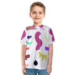 Plushie Color Rainbow Brown Purple Yellow Green Black Kids  Sport Mesh Tee