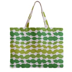 Polkadot Polka Circle Round Line Wave Chevron Waves Green White Zipper Mini Tote Bag by Mariart