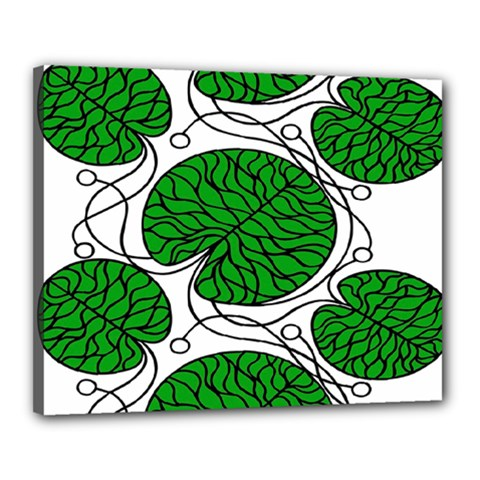 Leaf Green Canvas 20  x 16  by Mariart