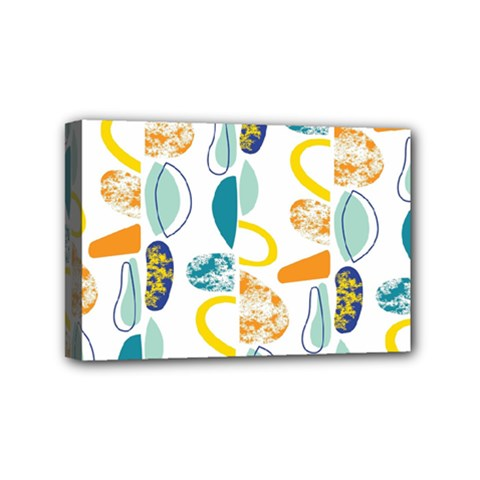 Pebbles Texture Mid Century Mini Canvas 6  X 4  by Mariart