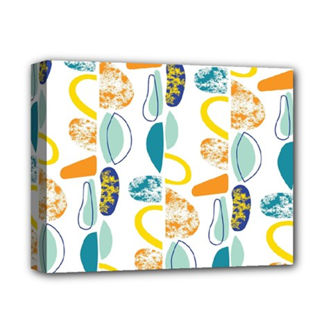 Pebbles Texture Mid Century Deluxe Canvas 14  X 11  by Mariart