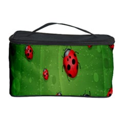 Ladybugs Red Leaf Green Polka Animals Insect Cosmetic Storage Case by Mariart