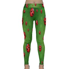 Ladybugs Red Leaf Green Polka Animals Insect Classic Yoga Leggings