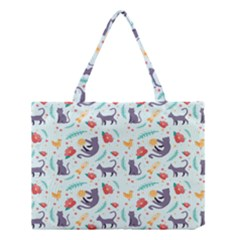 Redbubble Animals Cat Bird Flower Floral Leaf Fish Medium Tote Bag by Mariart
