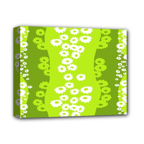Sunflower Green Deluxe Canvas 14  X 11  by Mariart