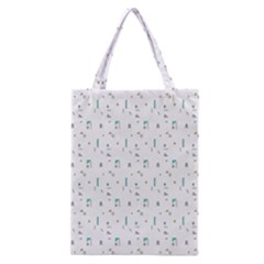 White Triangle Wave Waves Chevron Polka Circle Classic Tote Bag by Mariart